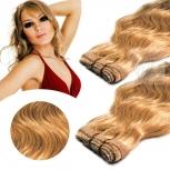 Skin Weft Haarverlängerung 60cm Länge Kupferblond #17K