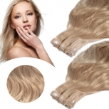 Skin Weft Haarverlängerung 60cm Länge Dunkelaschblond #17