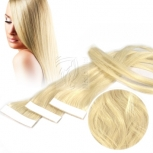 2 Echthaar Strips a 4 cm breit 45cm Länge Mix #22/24