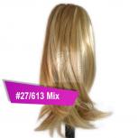 Pferdeschwanz Zopf Haarteil Ponytail 100g 30cm Glatt #27/613 Mix Blond