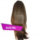 Pferdeschwanz Zopf Haarteil Ponytail 100g 30cm Glatt #4/30 Mix Braun