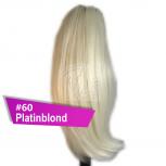 Pferdeschwanz Zopf Haarteil Ponytail 100g 30cm Glatt #60 Platinblond