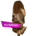 Pferdeschwanz Zopf Haarteil Ponytail 100g 30cm Gewellt #12 Hellbraun