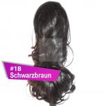 Pferdeschwanz Zopf Haarteil Ponytail 100g 30cm Gewellt #1B Schwarzbraun