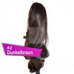 Pferdeschwanz Zopf Haarteil Ponytail 100g 30cm Gewellt #2 Dunkelbraun