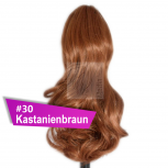 Pferdeschwanz Zopf Haarteil Ponytail 100g 30cm Gewellt #30 Kastanienbraun