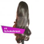 Pferdeschwanz Zopf Haarteil Ponytail 100g 30cm Gewellt #4 Schokobraun