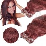 Skin Weft Haarverlängerung 60cm Länge Burgunder #35