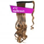 Pferdeschwanz Zopf Haarteil Ponytail 130g 50cm Gewellt #12 Hellbraun