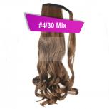 Pferdeschwanz Zopf Haarteil Ponytail 130g 50cm Gewellt #4/30 Mix Braun