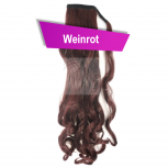 Pferdeschwanz Zopf Haarteil Ponytail 130g 50cm Gewellt Weinrot