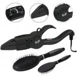 Wärmezange Schwarz Design NEU 608 schwarz + Hair Extensions Bürste
