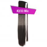 Pferdeschwanz Zopf Haarteil Ponytail 100g 30cm Glatt mit Haarband #2/33 Mix Rotbraun