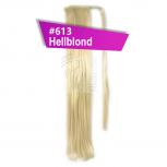Pferdeschwanz Zopf Haarteil Ponytail 100g 60cm Glatt #613 Hellblond
