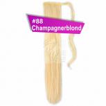 Pferdeschwanz Zopf Haarteil Ponytail 100g 60cm Glatt #88 Champagnerblond