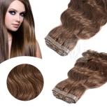 Skin Weft Haarverlängerung 60cm Länge Braun #6