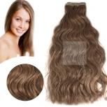 Skin Weft Haarverlängerung 60cm Länge Mittelbraun #8