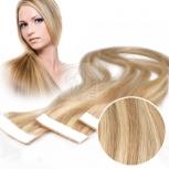 Echthaar Strips a 4 cm breit 45cm Länge Gesträhnt #9/24