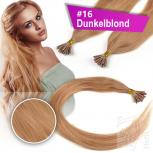 Echthaar Strähnen 0,5 g 45cm Bonding RB #16 Dunkelblond + 2 Clips