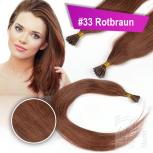 Echthaar Strähnen 0,5 g 45cm Bonding RB #33 Rotbraun + 2 Clips