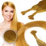 Bunte Echthaar Strähnen 0,5 g 45cm Haarverlängerung RB Gelb