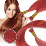 Bunte Echthaar Strähnen 0,5 g 45cm Haarverlängerung RB Pink