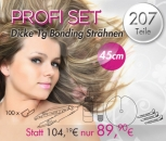 PROFI SET 100 Bonding Strähnen 100 U-Bondings 1 Wärmezange 1 Löser 1 Set