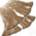 Clip Extensions Doppelpack 6 Haarteile Echthaar 40cm 110g #14 Dunkelblond + 4 Clips