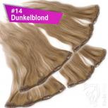 Clip Extensions Doppelpack 6 Haarteile Echthaar 45cm 110g #14 Dunkelblond + 4 Clips