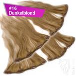 Clip Extensions Doppelpack 6 Haarteile Echthaar 60cm 110g #16 Dunkelblond + 4 Clips