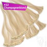 Clip Extensions Doppelpack 6 Haarteile Echthaar 45cm 110g #22 + 4 Clips