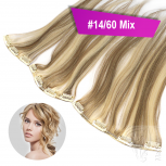 STARTER SET Clip In 3 Teile 9 Clips 40cm 55g #14/60 Mix + 4 Clips