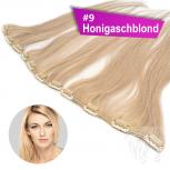 Clip In Single Haarteil Echthaar 60cm 9cm|14cm|18cm #9 Honigaschblond