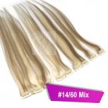 Clip In Extensions Echthaar 40 cm #14/60 Mix 5 Tressen 45g + 4 Spangen