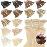 Clip In Extensions Single Haarteil Echthaar Tresse mit Clips 45 cm