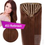 7 Clip Extensions 70g Haarteil 25 cm #33 Rotbraun + 10 Clips