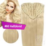 7 Clip Extensions 70g Haarteil 35 cm #60 Hellblond + 10 Clips