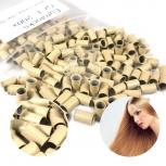25 Eurolocks Blond für Rundbonding Bonding Echthaar Strähnen