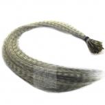 Feder Strähnen Feather Extensions Verlängerung I-Tip 0,4g 46cm Beige
