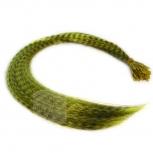 Feder Strähnen Feather Extensions Verlängerung I-Tip 0,4g 46cm Gelb