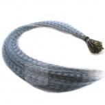 Feder Strähnen Feather Extensions Verlängerung I-Tip 0,4g 46cm Grau