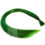 Feder Strähnen Feather Extensions Verlängerung I-Tip 0,4g 46cm Grün
