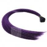 Feder Strähnen Feather Extensions Verlängerung I-Tip 0,4g 46cm Lila