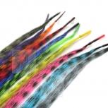 20 Feder Strähnen Feather Extensions I-Tip 0,4g 46cm Feder Mix