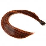 Feder Strähnen Feather Extensions Verlängerung I-Tip 0,4g 46cm Orange