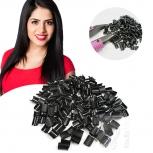 10 Keratinbondings Ersatz Bondings Schwarz für Echthaar Strähnen