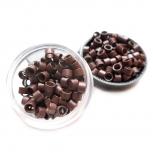Microringe Gewinde 1g Braun für Ringmethode Bonding Echthaar Strähnen