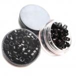 Microringe Gewinde 1g Schwarz für Ringmethode Bonding Echthaar Strähnen