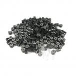 Microringe Silikon 0,5g Schwarz Ringmethode Bonding Echthaar Strähnen