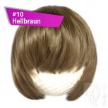 Pony Haarteil Clip In 25-30g Gerade Form Glatt #10 Hellbraun + 2 Tressenclips